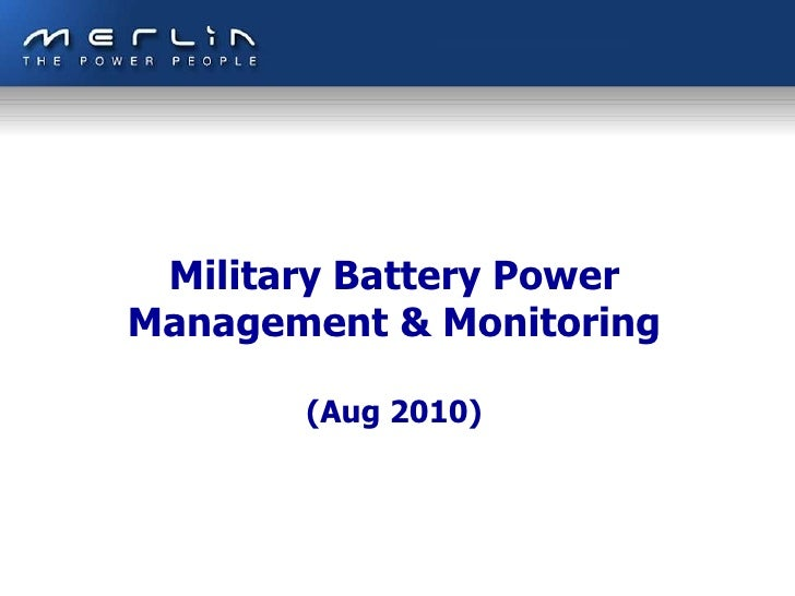 Military Vehicle Battery Monitoring & Management