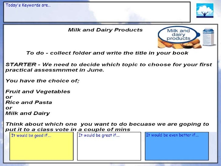 Milk and dairy powerpoint