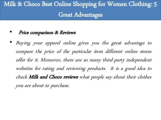 28ef389d2 Milk & Choco Best Online Shopping for Women Clothing: 5 Great Advantages; 9.