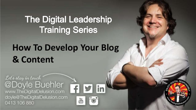 How To Develop Your Blog & Content Plan - Milkit Blogging Webinar by Doyle Buehler 2015 07 Slide 2