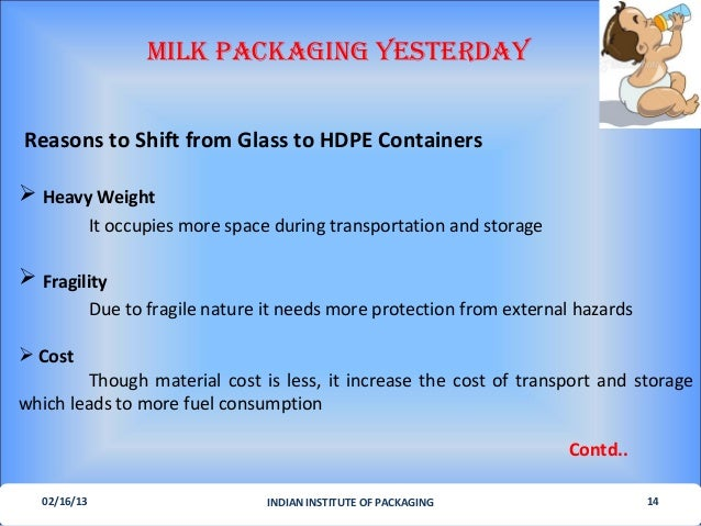 milk being supplied in glass bottles later in plastic bags