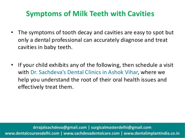 dental decay process 6 symptoms of milk teeth