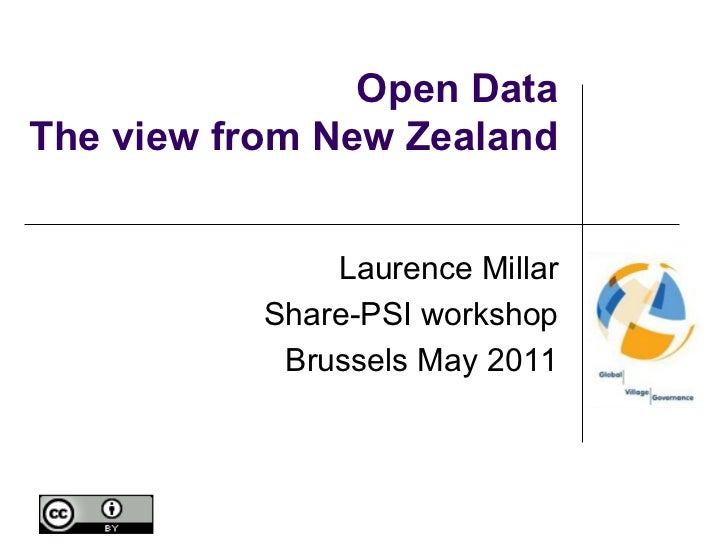 Open DataThe view from New Zealand               Laurence Millar           Share-PSI workshop            Brussels May 2011