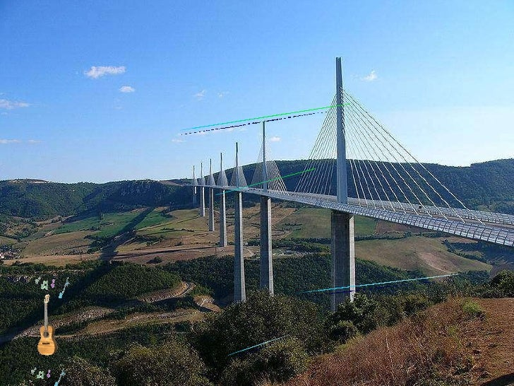Millau Viaduct 米洛大橋 Misic:Around The World Autoplay