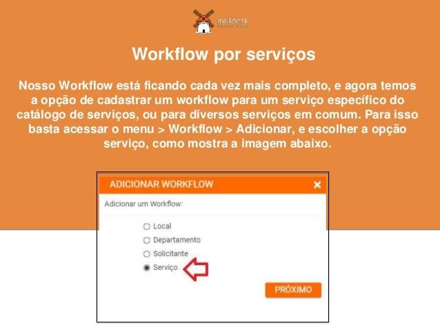 Nosso Workflow está ficando cada vez mais completo, e agora temos a opção de cadastrar um workflow para um serviço específ...