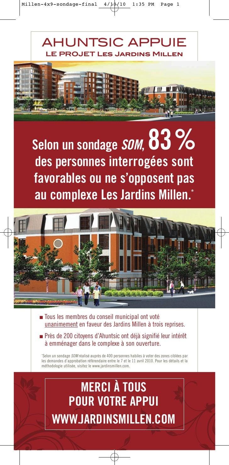 Millen-4x9-sondage-final                      4/13/10           1:35 PM           Page 1           AHUNTSIC APPUIE        ...
