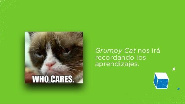 Grumpy Cat nos irá  recordando los  aprendizajes.