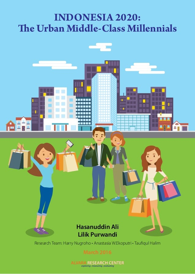 INDONESIA 2020: The Urban Middle-Class Millennials Hasanuddin Ali Lilik Purwandi Research Team: Harry Nugroho • Anastasia ...