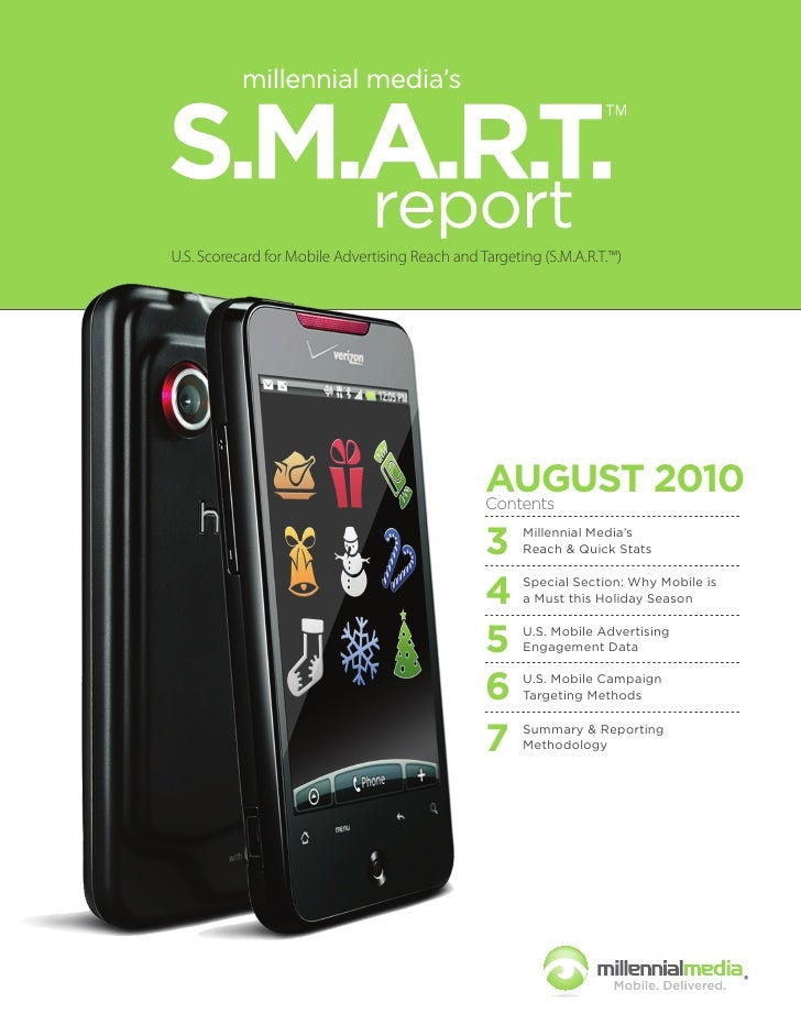 U.S. Scorecard for Mobile Advertising Reach and Targeting (S.M.A.R.T.™)                                                   ...