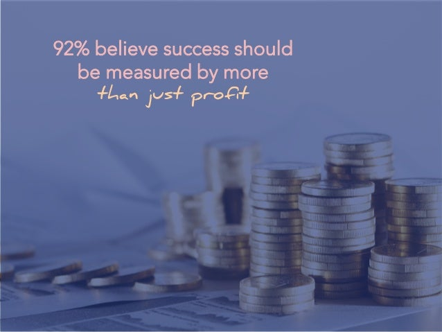 92% believe success should be measured by more than just profit