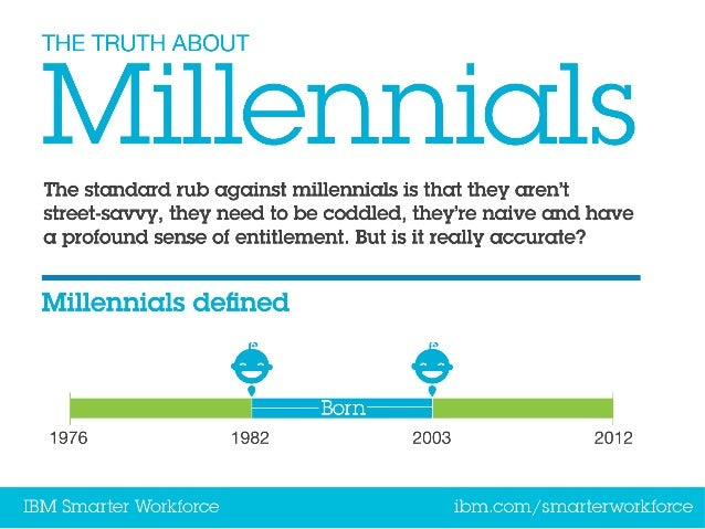 The truth about millennials