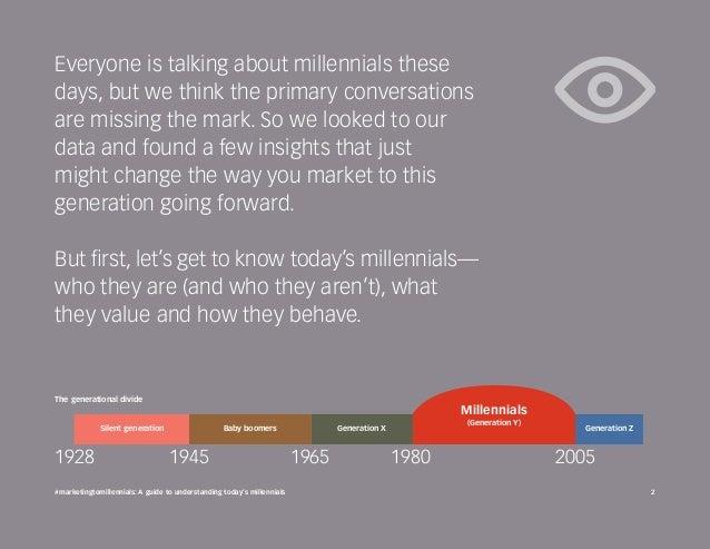 #marketingtomillennials: A guide to understanding today's millennials Slide 2