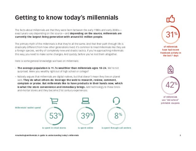 #marketingtomillennials: A guide to understanding today's millennials Slide 3