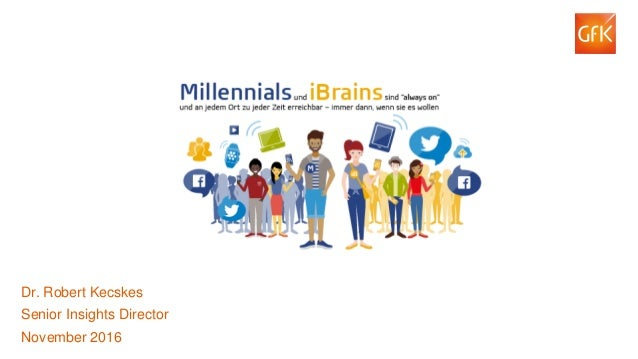 1© GfK 2016 Dr. Robert Kecskes: Millennials und iBrains. Dr. Robert Kecskes Senior Insights Director November 2016
