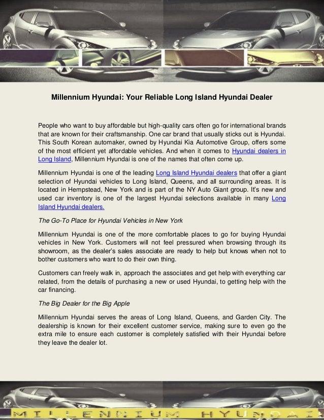 Bmw Dealers Long Island >> Millennium Hyundai Your Reliable Long Island Hyundai Dealer