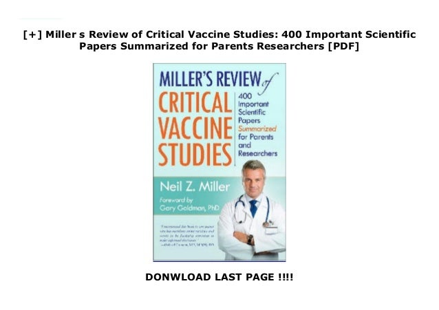 Newest Scientific Review Of Vaccine >> Miller S Review Of Critical Vaccine Studies 400 Important Scient