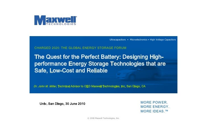 The Quest For The Perfect Battery Designing High