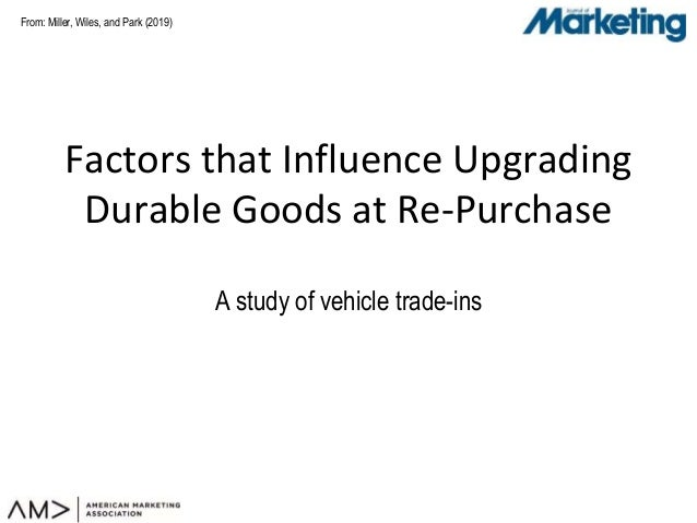 From: Factors that Influence Upgrading Durable Goods at Re-Purchase A study of vehicle trade-ins Miller, Wiles, and Park (...
