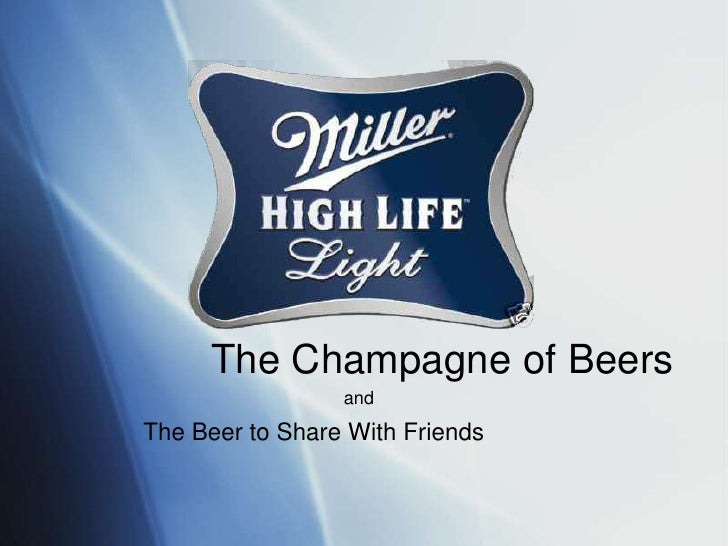 The Champagne of Beers<br />and<br />The Beer to Share With Friends<br />