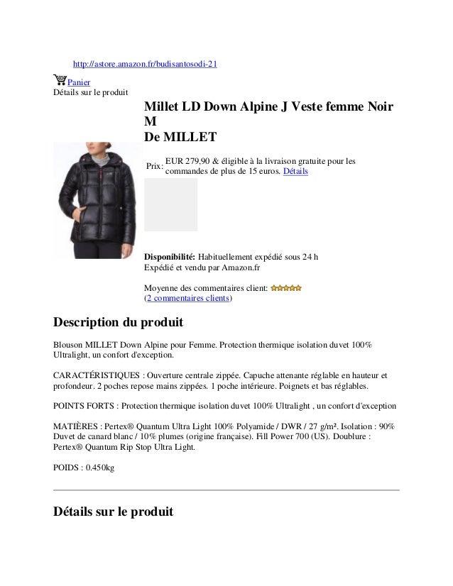http://astore.amazon.fr/budisantosodi-21PanierDétails sur le produitMillet LD Down Alpine J Veste femme NoirMDe MILLETPrix...