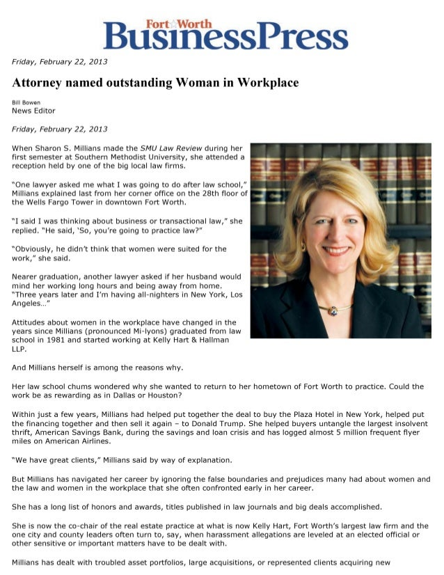 Attorney named outstanding Woman in Workplace
