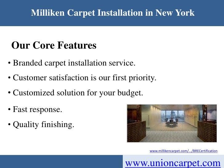 Discount Milliken Carpet Installation Services In New York