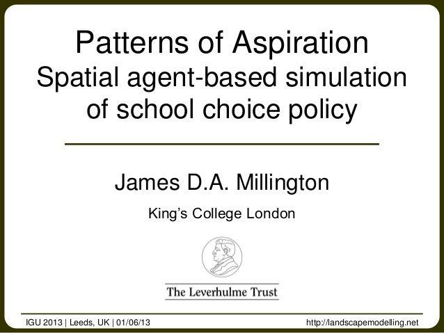 http://landscapemodelling.netJames D.A. MillingtonKing's College LondonPatterns of AspirationSpatial agent-based simulatio...