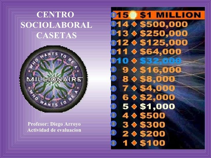 CENTRO  SOCIOLABORAL CASETAS Profesor: Diego Arroyo Actividad de evaluacion