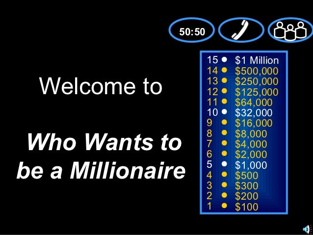 50:50                       15   $1 Million                       14   $500,000  Welcome to           13                  ...