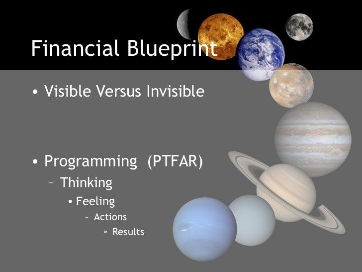 Financial Blueprint <ul><li>Visible Versus Invisible  </li></ul><ul><li>Programming  (PTFAR) </li></ul><ul><ul><li>Thinkin...