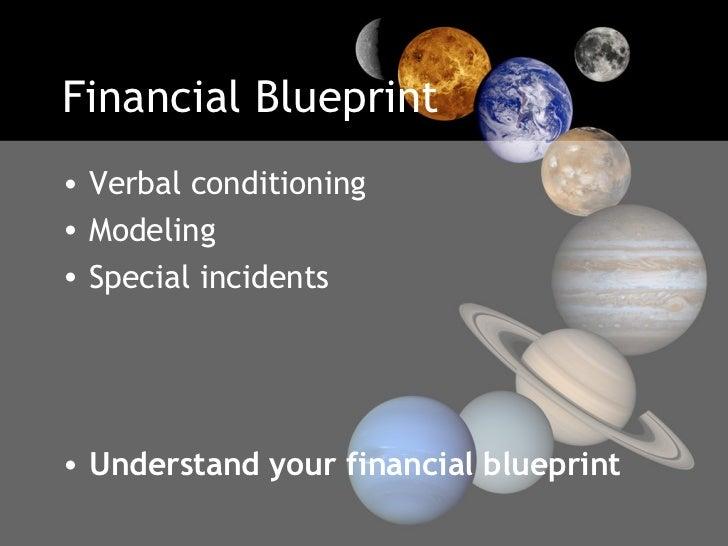 Financial Blueprint <ul><li>Verbal conditioning  </li></ul><ul><li>Modeling </li></ul><ul><li>Special incidents </li></ul>...