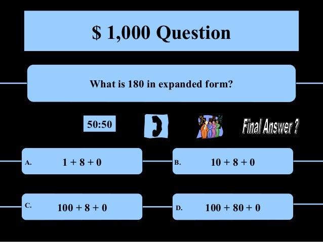 Millionaire 5th Grade Math
