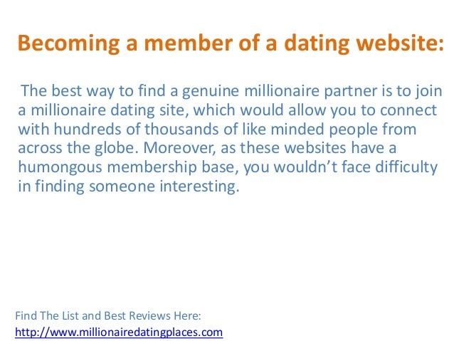Millionaire dating uk reviews