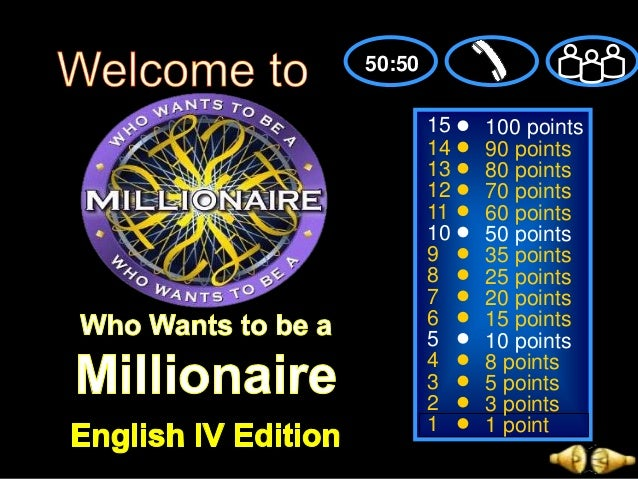 Verb tenses powerpoint game who wants to be a millionaire for Who want to be a millionaire game template