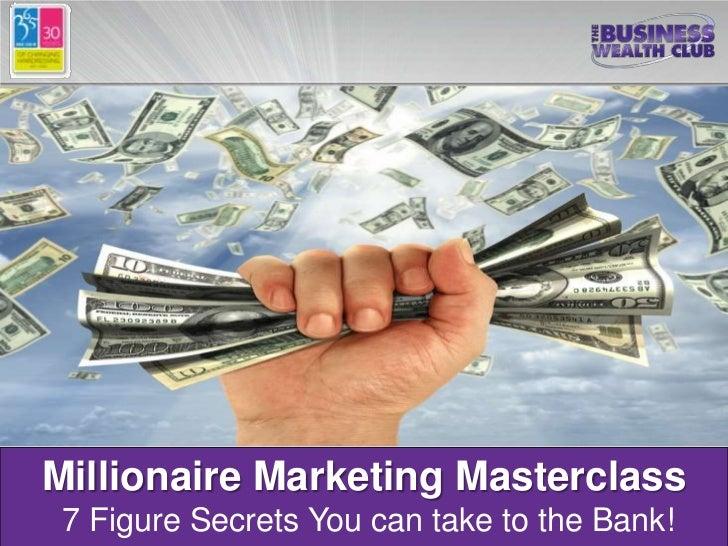 Millioniare marketing masterclass salon success 365 for 365 salon success