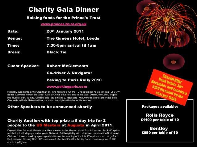 million makers charity dinner flyer