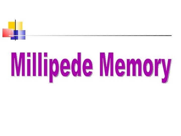 Millipede Memory