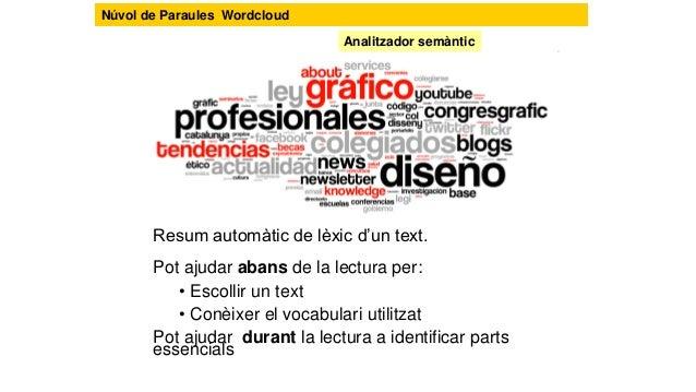 Copiar i enganxar Configurar per millorar la lectura Que cal fer? http://www.wordle.net/