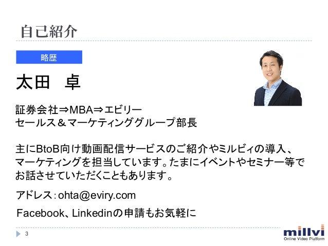 【株式会社エビリー】動画配信を用いた4つのマーケティング活用方法 Slide 3