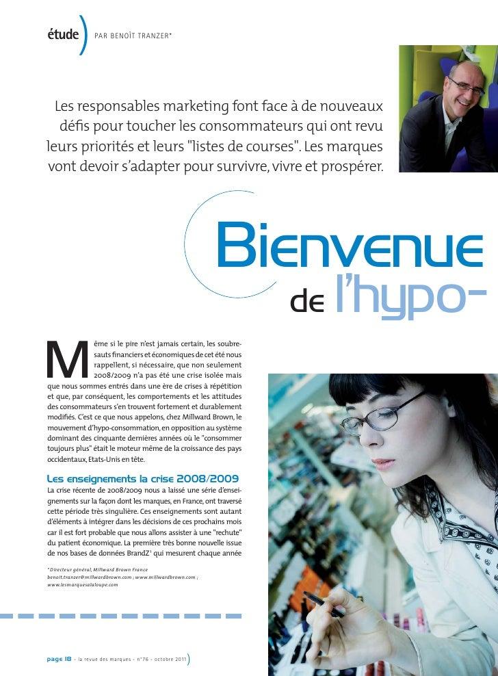 étude           )      PAR BENOÎT TRANZER*  Les responsables marketing font face à de nouveaux   défis pour toucher les con...