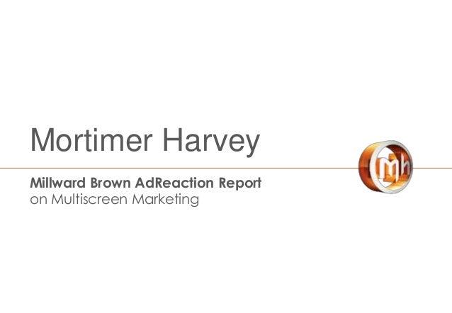 Mortimer Harvey Millward Brown AdReaction Report on Multiscreen Marketing