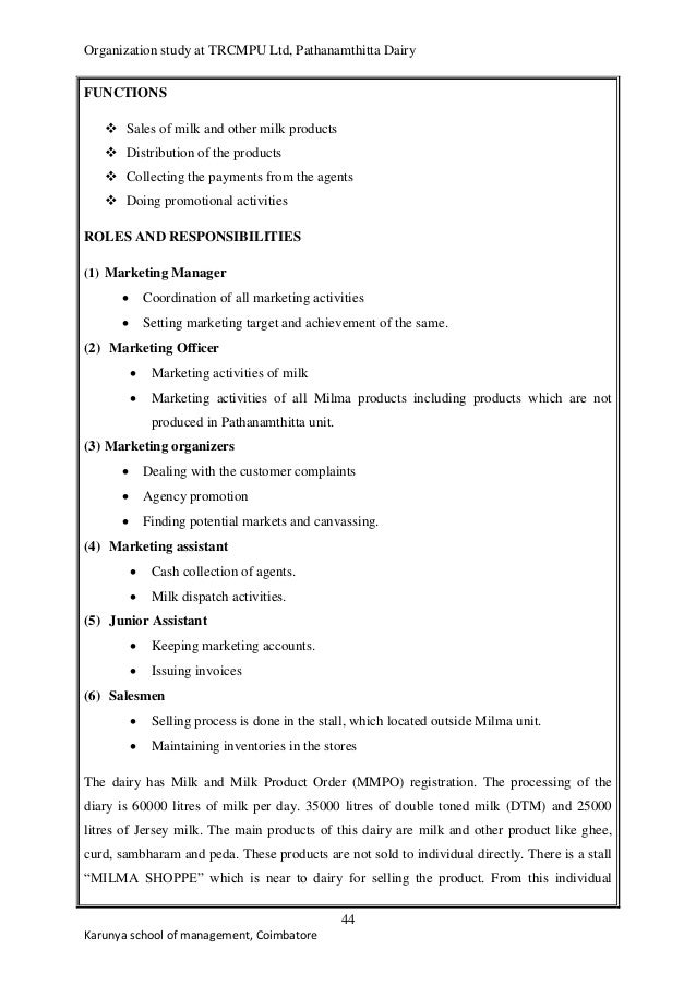 milma organization study A study on the swot analysis and marketing strategies of milma mr aneesh kumar k k mcom med hsst jr in commerce (waiting for approval) pvs higher secondary school, calicut abstract: swot analysis is a study undertaken by an organization to identify its internal strengths and weaknesses, as well as its external opportunities and threats.