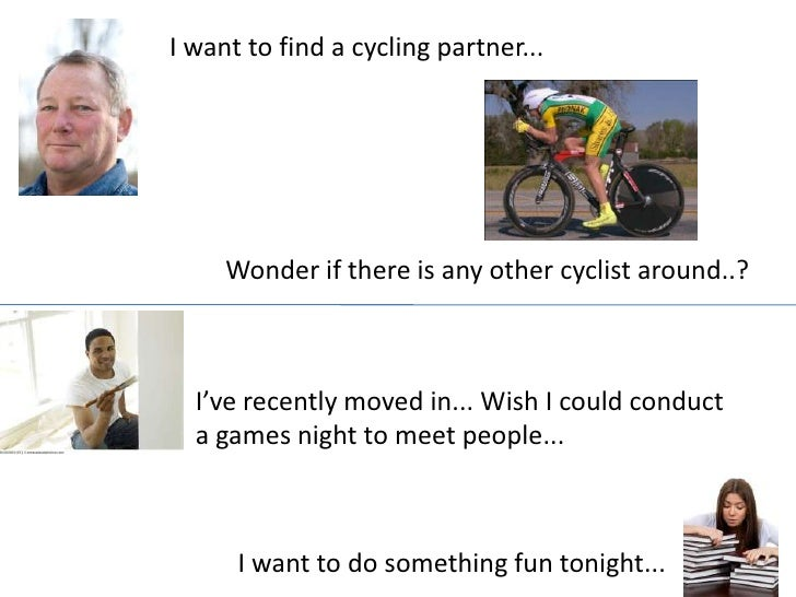 I want to find a cycling partner...<br />Wonder if there is any other cyclist around..?<br />I've recently moved in... Wis...