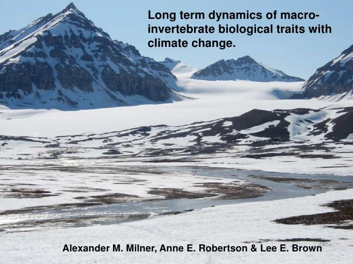 Long term dynamics of macro-                 invertebrate biological traits with                 climate change.Alexander ...