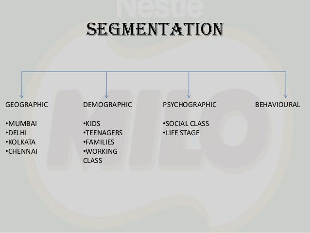 market segmentation of nestle Marketing project paper : marketing in multinational company - nestle   customer-driven marketing strategy market segmentation markets consist of  buyers.