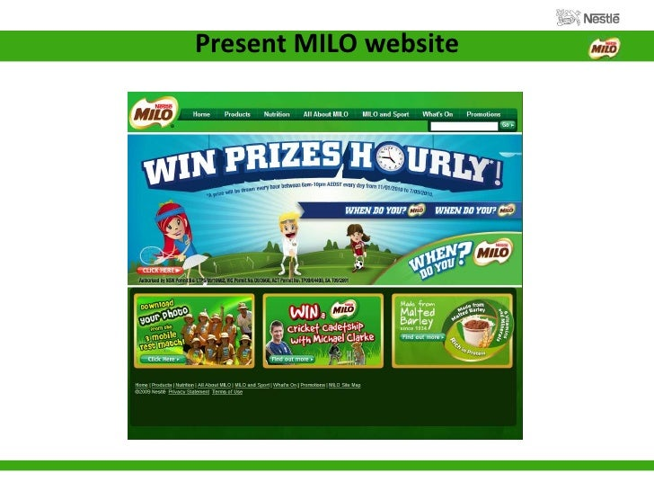 milo strategies The milo brand was a main driver of organic growth this was the result of o its alignment with nestl 's nutrition, health and wellness strategy through reformulation to reduce sugar content o its position in the market as a popularly positioned product, targeted towards.