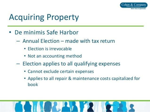 Tangible Property Capitalization Regulations