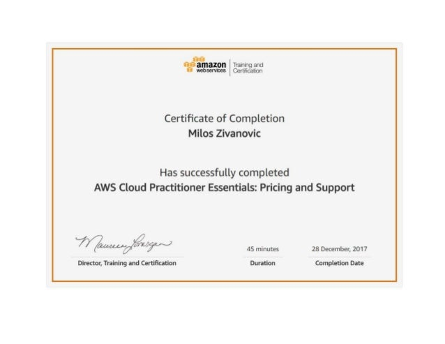 Milos Zivanovic Aws Cloud Practitioner Essentials Pricing And Supp