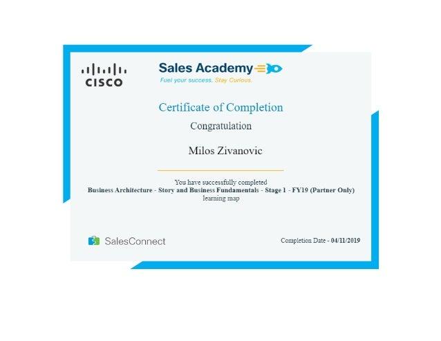 Milos Zivanovic - Cisco Business Architecture Story and Business Fundamentals