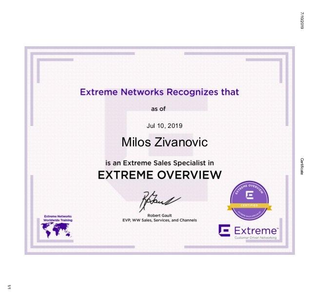 7/10/2019Certificate 1/1 Jul 10, 2019 Milos Zivanovic